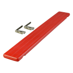 "Carlisle 662105 Food Bar Tray Slide - Drop Down, 68-3/4x8-1/2x1-3/4"" Red"