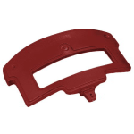Carlisle 776005 Replacement Sneeze Guard Post - Food Bar, Polyethylene, Red
