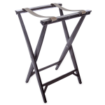 """Carlisle C3630W11 Folding Tray Stand - 19.75 x 16.67"""" x 30.5"""", (2) Black Straps, Walnut"""