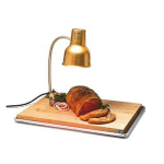 "Carlisle HL8185GB21 Flexiglow Heat Lamp, 24"" Arm, Cutting Board, Gold Aluminum, 110-120v"