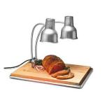 """Carlisle HL8285B00 Flexiglow Heat Lamp w/ Dual 24"""" Arms, 2-Bulb, Drip Pan, Cutting Board, 110-120v"""