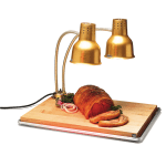 Carlisle HL8285GB21 Countertop Carving Station - Dual Flex Arms, Anodized Gold Finish 110-120v