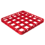 Carlisle RE25C05 Full-Size Color-Coded Glass Rack Extender w/ (25) Compartments, Red