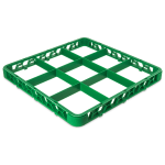 Carlisle RE9C09 Full-Size Color-Coded Glass Rack Extender w/ (9) Compartments, Green