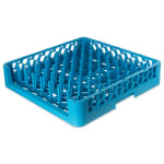 Carlisle ROP14 Full-Size Dishwasher Plate/Tray Peg Rack - Open-End, Blue