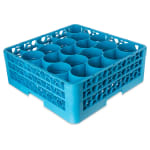Carlisle RW20-114 Full-Size Dishwasher Glass Rack w/ (20) Compartments & (2) Extenders, Blue