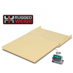 Detecto FH-555F-204 Scale Platform w/ 204 Weight Indicator, 5 x 5 ft, 5000 x 1 lb, 110v