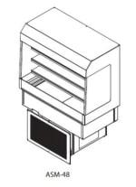 "Delfield ASM-48 48"" Countertop Refrigerator w/ Pass Thru Access - Sliding Door, Stainless, 115v"
