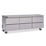 """Delfield GUR72P-D 72"""" Worktop Refrigerator w/ (3) Sections & (6) Drawers, 115v"""