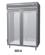 """Delfield SMF2-G 56"""" Two Section Reach-In Freezer, (2) Glass Doors, 115v"""