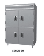 Delfield SMH2N-SH 2-Section Reach-In Hot Food Cabinet w/ Half Solid, 43.04-cu ft, 120/208-230V