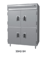 Delfield SSHPT2-SH 2-Section Pass-Thru Hot Food Cabinet w/ Half Solid Door, 51.92-cu ft