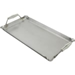 "Franklin Machine 133-1612 Lift-Off Griddle, Fits Two Burners, 14"" x 24"", Steel"