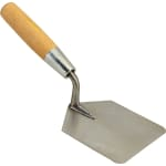 "Franklin Machine 137-1365 Hamburger Turner, 4.5"" x 4"" Stainless Blade, Wood Handle"
