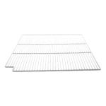 "Franklin Machine 148-1082 Epoxy-Coated Wire Shelf for Refrigerators & Prep Tables - 28"" x 23.63"", White"