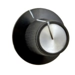 "Franklin Machine 204-1185 1.13"" Control Knob for Hatco Heat Lamps & Food Warmers - Plastic, Black"