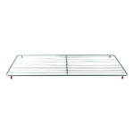 "Franklin Machine 235-1155 Epoxy-Coated Wire Shelf for Delfield Prep Tables - 14.25"" x 25.25"", Gray"