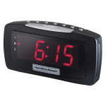 Hamilton Beach HCR330 Alarm Clock Radio w/ Snooze Bar - Black, 120v