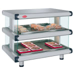 "Hatco GR2SDH-54D 60.25"" Self-Service Countertop Heated Display Shelf - (2) Shelves, 240v/1ph"