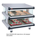 "Hatco GR2SDS-60D 66.25"" Self-Service Countertop Heated Display Shelf - (2) Shelves, 208v/1ph"