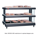 "Hatco GR3SDH-39D 39.18"" Self-Service Countertop Heated Display Shelf - (3) Shelves, 208v/1ph"