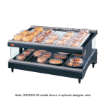 "Hatco GR3SDS-27 27.18"" Self-Service Countertop Heated Display Shelf - (2) Shelves, 120v"