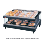 "Hatco GR3SDS-33 33.18"" Self-Service Countertop Heated Display Shelf - (2) Shelves, 120v"