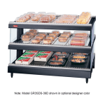 "Hatco GR3SDS-33D 33.18"" Self-Service Countertop Heated Display Shelf - (3) Shelves, 208v/1ph"