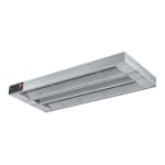 "Hatco GRAHL-108D6 108"" Foodwarmer, Dual w/ 6"" Space, High Watt & Lights, 240 V"