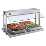 "Hatco GRBW-36 37 1/8"" Buffet Warmer, Sneeze Guards, Light & Heated Base, 240 V"