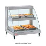 "Hatco GRCD-1PD 20.63"" Self-Service Countertop Heated Display Case w/ Curved Glass - (2) Levels, 120v"