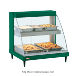 "Hatco GRCD-2PD 32.5"" Self-Service Countertop Heated Display Case w/ Curved Glass - (2) Levels, 120v"