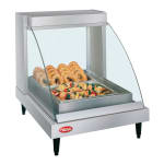 "Hatco GRCDH-1P 20.63"" Self-Service Countertop Heated Display Case w/ Curved Glass - (1) Level, 120v"