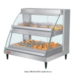 "Hatco GRCDH-1PD 20.63"" Self-Service Countertop Heated Display Case w/ Curved Glass - (2) Levels, 120v"