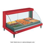 """Hatco GRCDH-3P 45.53"""" Self-Service Countertop Heated Display Case w/ Curved Glass - (1) Level, 120v"""