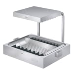 "Hatco GRFHS-PT26 29.88"" Glo-Ray® Countertop Fry Holding Station - Rod-Type, Pass Thru, 120v"