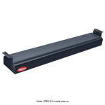 "Hatco GRN-72 72"" Narrow Infrared Foodwarmer, Black, 120 V"
