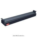 "Hatco GRNH-24 24"" Narrow Infrared Foodwarmer, High Watt, Black, 120 V"