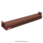 "Hatco GRNH-30 30"" Narrow Infrared Foodwarmer, High Watt, Copper, 120 V"