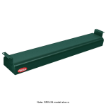 "Hatco GRNH-66 66"" Narrow Infrared Foodwarmer, High Watt, Green, 120 V"