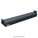 "Hatco GRNH-72 72"" Narrow Infrared Foodwarmer, High Watt, Black, 120 V"