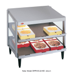 "Hatco GRPWS-3618D Pass-Thru Pizza Warmer w/ Double Slant Shelf, 36 x 18"", 120 V"