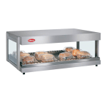 "Hatco GRSDH-36 36"" Self-Service Countertop Heated Display Shelf - (1) Shelf, 120v"