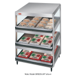 "Hatco GRSDS-36T 36"" Self-Service Countertop Heated Display Shelf - (3) Shelves, 120v"