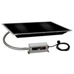 "Hatco HBG-2418 24"" Portable Heated Glass Shelf w/ Thermo Control, Black, 120 V"