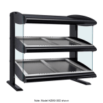 "Hatco HZMS-24D 27.9"" Self-Service Countertop Heated Display Shelf - (2) Shelves, 120v"