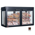 "Hatco LFST-48-2X 48.81"" Self-Service Countertop Heated Display Case - (3) Shelves, Copper, 208v/1ph"