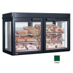 "Hatco LFST-48-2X 48.81"" Self-Service Countertop Heated Display Case - (3) Shelves, Green, 208v/1ph"