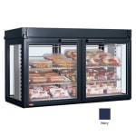 "Hatco LFST-48-2X 48.81"" Self-Service Countertop Heated Display Case - (3) Shelves, Navy, 208v/1ph"