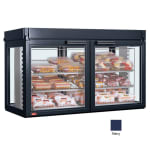 "Hatco LFST-48-2X 48.81"" Self-Service Countertop Heated Display Case - (3) Shelves, Navy, 240v/1ph"